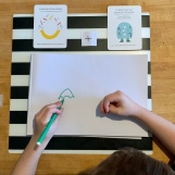 Drawing monsters with our 'wrong' hands.