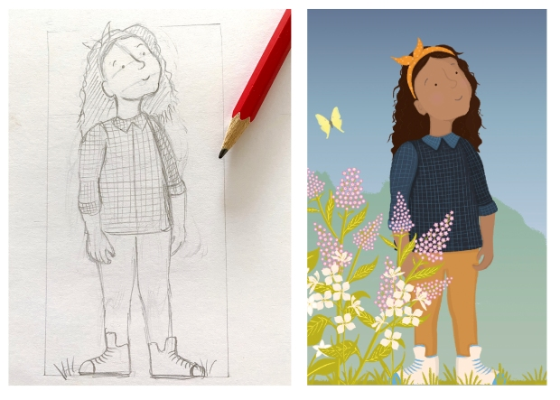 From sketch to coloured image